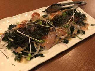 海鮮カルパッチョ海藻サラダ