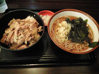 生姜焼き丼セット