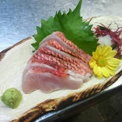 下田産地金目鯛の刺身