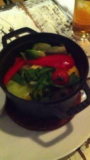 蒸し温野菜 ~レモンピール入り岩塩添え