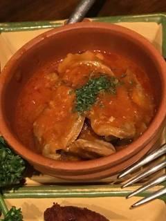 砂肝とレバーのトマト煮