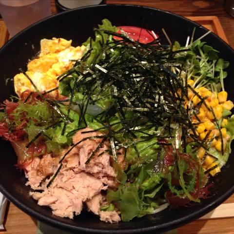 ツナと海藻のサラダすぱ
