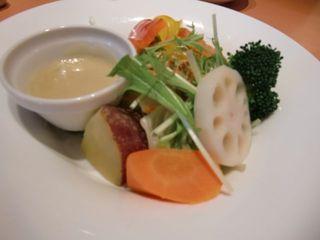 温野菜のディップ添え