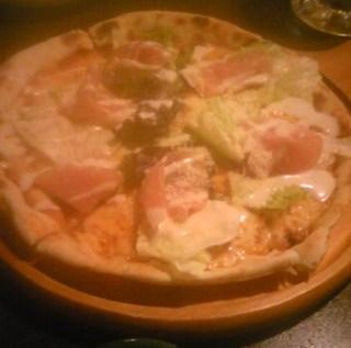 手造り生ハムサラダピザ
