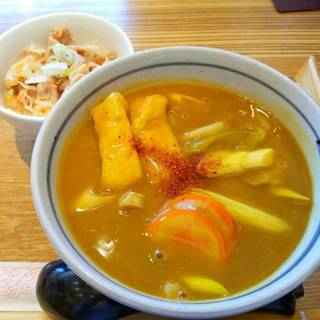 カレーうどん&ミニ豚丼