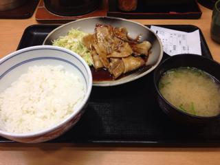 焼味豚定食