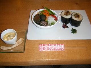 穴子の巻き寿司ランチ