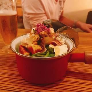 有機べか菜といちじく生ハムの柚子サラダ