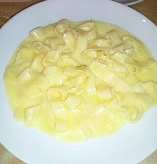 レモンとミントのバターチーズソース パスタ