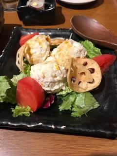 柚子と鰹のポテトサラダ