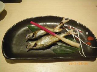 庄川の天然鮎の塩焼き