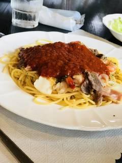 海・山の幸パスタ     トマトソース