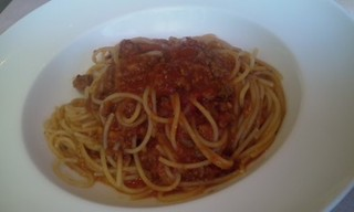 牛肉のラグーのスパゲティーニ