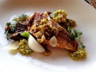 鮮魚のグリル バルサミコソース