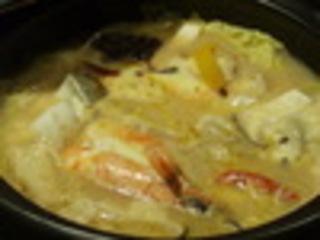魚介と白菜のカレーチーズ煮込み
