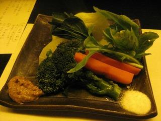 出汁蒸し野菜盛り
