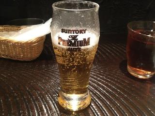 ランチグラスビール