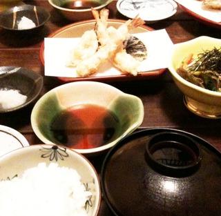 上天ぷら定食