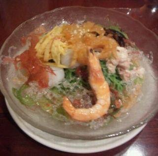 海鮮ヒスイ冷麺