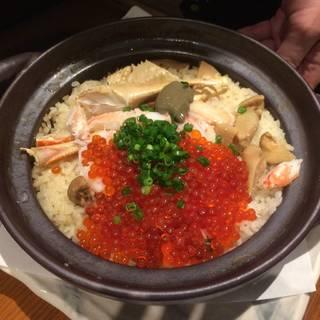 土鍋で炊く!海鮮釜飯!