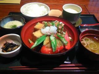 鶏と豆腐の揚げ出し定食