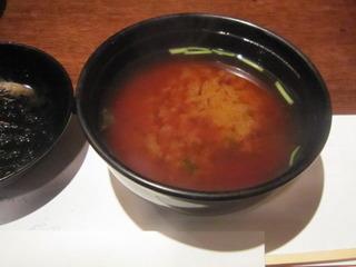 青海苔と豆腐の赤だし