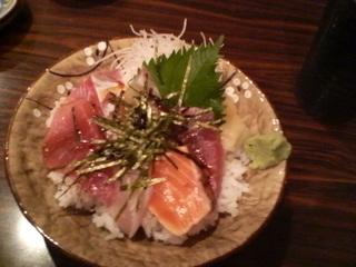 漬けまぐろ葱とろ丼 海鮮丼