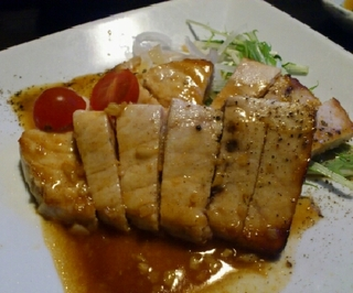 カジキマグロのガーリックステーキ