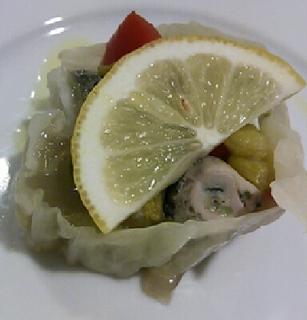 生ハムを巻いた牡蠣のフリット
