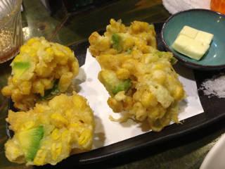 アボカドとコーンの天ぷら