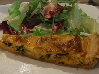 コショウ鯛と小松菜のキッシュ