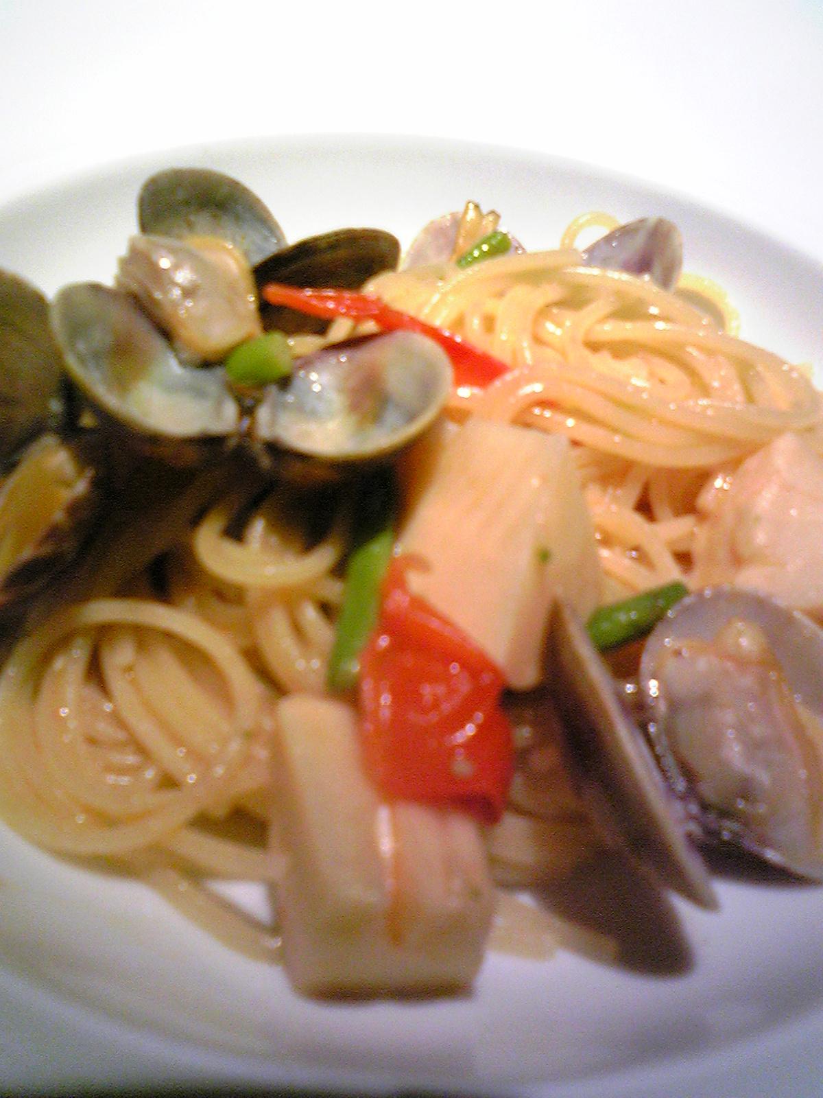 春野菜とアサリのスパゲッティ