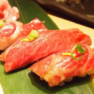 三角ステーキのにぎり寿司
