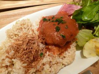 豆腐と挽肉のハンバーグ