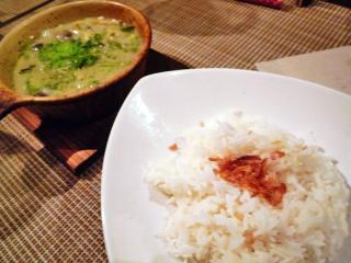 地鶏のココナッツグリーンカレー