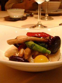 季節野菜の岩塩炒め