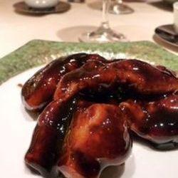 国産ハーブ豚の黒酢の酢豚