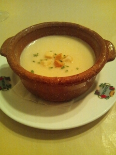 牡蠣のクリームスープ