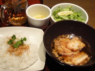 ベトナム豚挽き肉のブンチャープレート