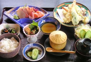 刺身 天ぷら定食
