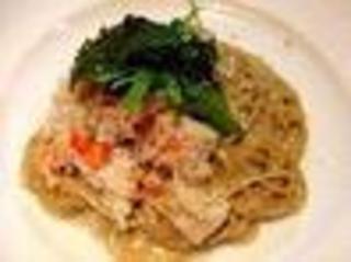 タラバ蟹のカニ味噌パスタ