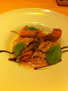 鳥取県産ズワイ蟹の蟹味噌トマトクリームパスタ