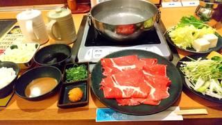 牛肩ロース定食