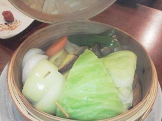 野菜のせいろ蒸し