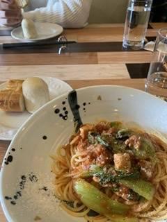 牡蠣とジャガイモのオイルパスタ