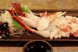 オホーツク産活ずわい蟹 刺身