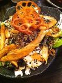 レンコンとごぼうのカリカリサラダ