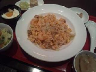 海老ととび子レタスの炒飯セット