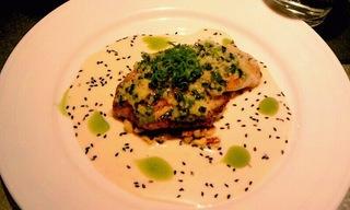 白身魚のジンジャーソース
