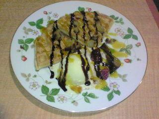 チョコワッフルケーキ